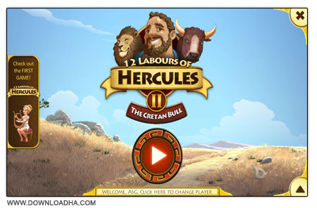 12 Labours of Hercules II The Cretan Bull دانلود بازی کم حجم 12Labours of Hercules II: The Cretan Bull
