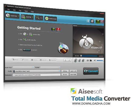 Aiseesoft Total Media Converter تبدیل تمامی فرمت های مالتی مدیا با Aiseesoft Total Media Converter 7.1.32.23354