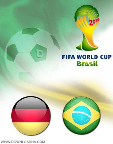 Brazil vs germany 2014 دانلود بازی برزیل و آلمان در جام جهانی Brazil vs Germany World Cup 2014