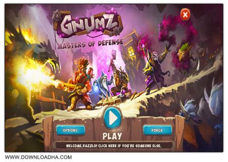 Gnumz Masters of Defense دانلود بازی سرگرم کننده و کم حجم Gnumz: Masters of Defense