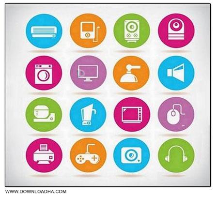 Icon Set مجموعه آیکون های متنوع Different Icons Set