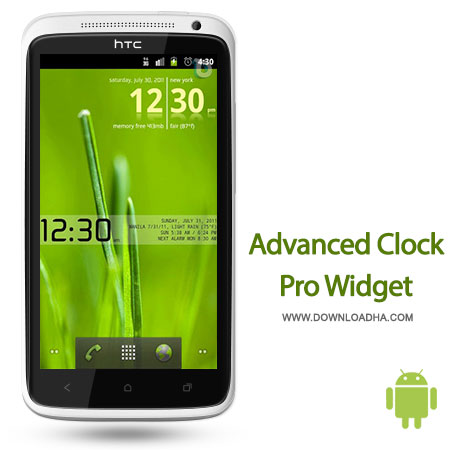 advanced clock pro android ویجت ساعت حرفه‌ای Advanced Clock Widget Pro 0.761   اندروید