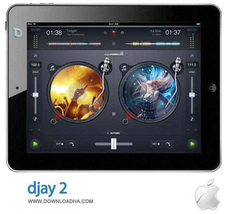 dajy2 ابزار محبوب DJ و میکس آهنگ djay 2 2.0.1   آیپد