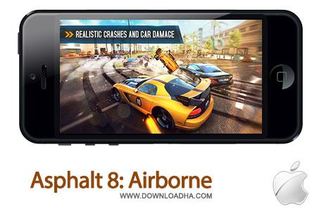 asphalt8 بازی جذاب و محبوب ماشینسواری Asphalt 8: Airborne   آیفون و آیپد