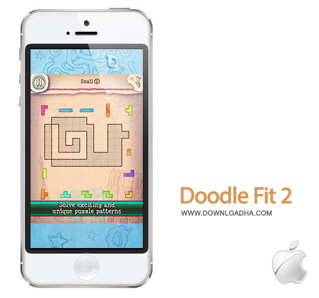 doodle fit 2 بازی فکری و زیبای Doodle Fit 2: Around the World 1.2   آیفون و آیپد