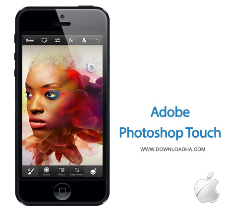 photosohp touch ویرایش تصاویر با Adobe Photoshop Touch for phone 1.1.1   آيفون
