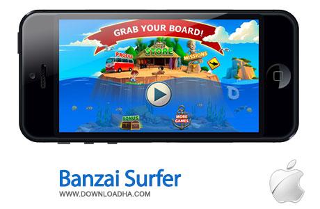 banzai surfer بازی سرگرم کننده Banzai Surfer 1.1.1   اندروید