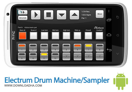 electrum drum android ساخت موزیک با کمک Electrum Drum Machine/Sampler 4.7.6   اندروید