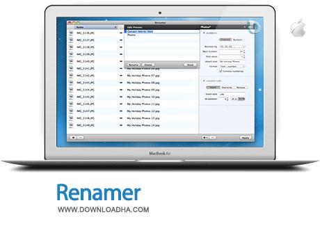 renamer mac تغییر نام همزمان فایلها با Renamer 4.2.5   مک