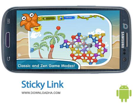 sticky linky android بازی فکری و سرگرم کننده Sticky Linky 1.0   اندروید
