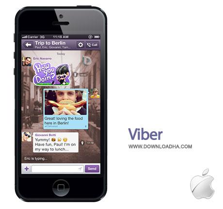 viber ارتباط رایگان با دوستانتان توسط Viber 3.1.5   آیفون و آیپد