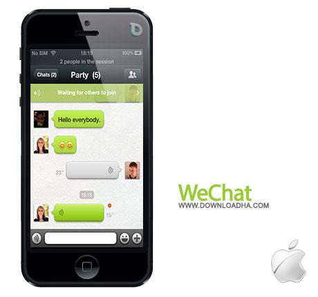 wechat دانلود مسنجر WeChat 5.0.1.0   آیفون و آیپد