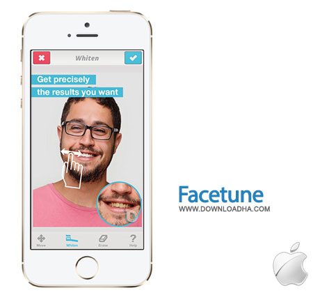 facetune رتوش چهره با Facetune 2.1.1   آیفون و آیپد
