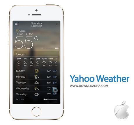 yahoo weather وضعیت آب و هوا با Yahoo Weather 1.5.1   آیفون و آیپد