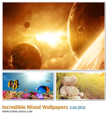 WallIMW مجموعه 100 والپیپر زیبا با موضوعات گوناگون Incredible Mixed Walpapers