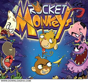 Rocket Monkeys cover دانلود فصل اول انیمیشن میمون های فضایی   Rocket Monkeys Season 1 2013