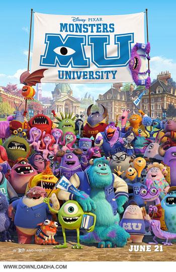 Monsters University cover small دانلود دوبله فارسی انیمیشن دانشگاه هیولاها   Monsters University 2013