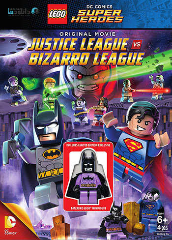 Lego DC   Justice League vs. Bizarro League cover small دانلود انیمیشن Lego DC Justice League vs Bizarro League 2015