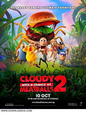 Cloudy with a Chance of Meatballs 2 2013 cover small دانلود انیمیشن Cloudy with a Chance of Meatballs 2 2013