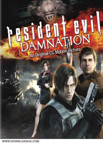 Resident Evil Damnation cover دانلود دوبله فارسی انیمیشن اهریمن درون: نفرین ابدی   Resident Evil: Damnation 2012
