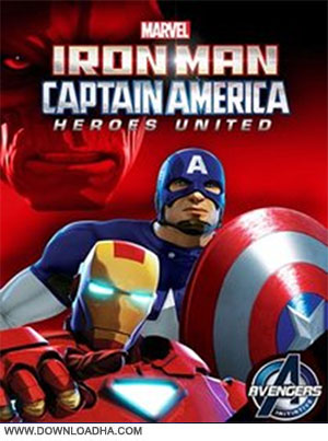 Iron man 2014 cover دانلود انیمیشن Iron Man and Captain America Heroes United 2014