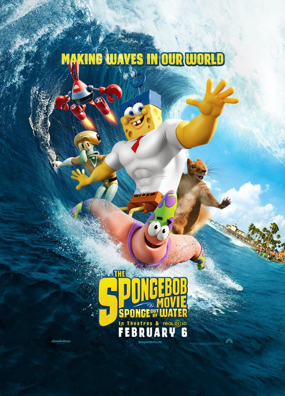 The SpongeBob Movie Sponge Out Of Water 2015 cover small دانلود انیمیشن The SpongeBob Movie Sponge Out Of Water 2015