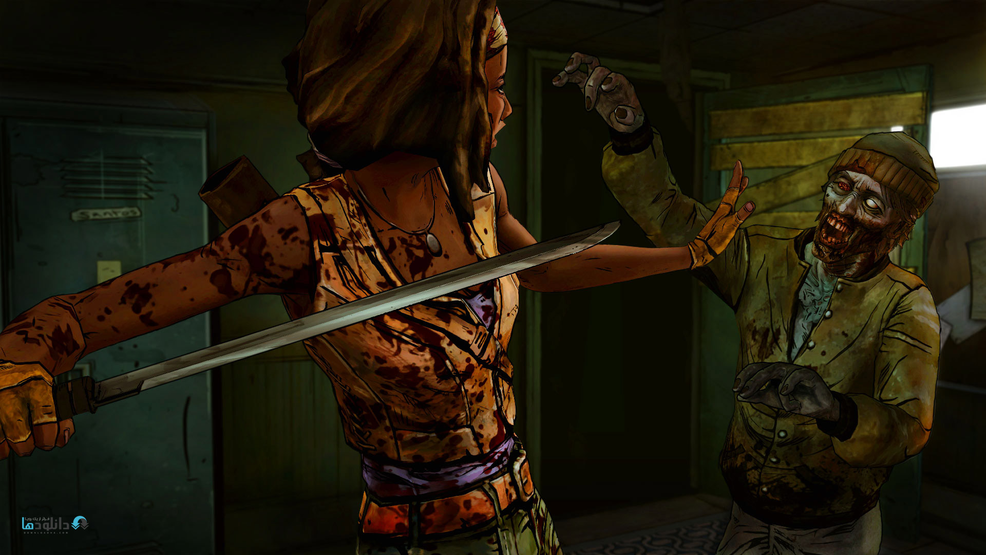 Michonne Slicing Zombies