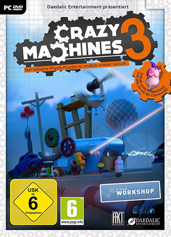 Crazy Machines 3 pc cover دانلود بازی Crazy Machines 3 برای PC