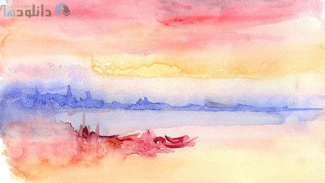کاور-Painting-free-watercolours-like-Turner-with-David-J-Walker