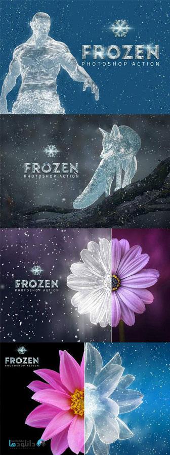 اکشن-فتوشاپ-frozen-ice-photoshop-action
