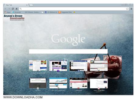 Downloadha Chroum پوسته دانلود ها برای مرورگر گوگل کروم