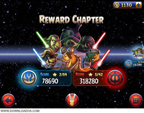 Angry Birds Star Wars SS نسخه جدید بازی پرندگان خشمگین Angry Birds Star Wars 2 v1.0
