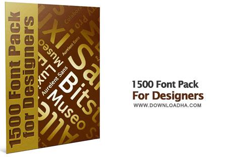 Font Pack 1500 مجموعه ۱۵۰۰ فونت برای طراحی Font Pack For Designers