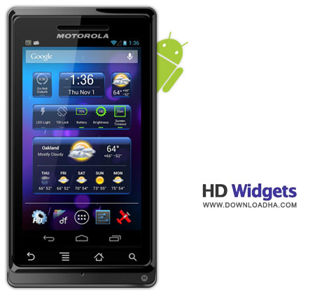 HD Widgets مجموعه ویدجت های مفید برای آندروید با HD Widgets v3.0.12