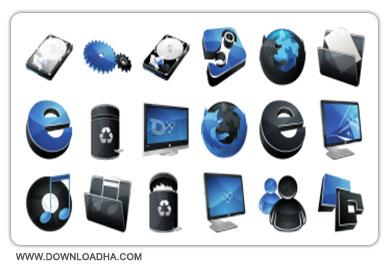 Hydropro Icon مجموعه 46 آیکون ها گرافیکی با عنوان Hydropro Icon