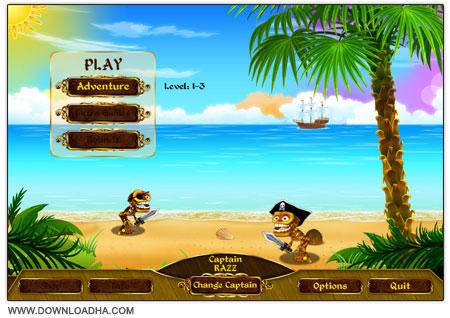 Skeleton Pirates دانلود بازی سرگرم کننده دزدان دریایی اسکلتی Skeleton Pirates