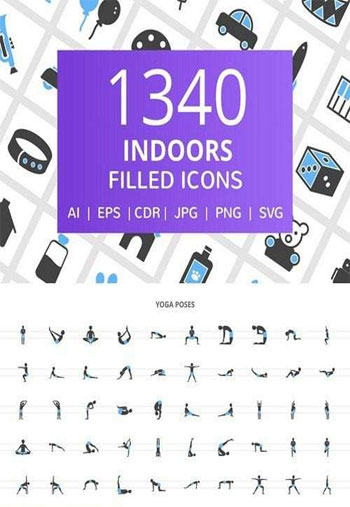 Indoors-Filled-Icons