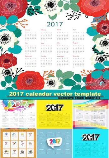 2017-calendar-vector-templa