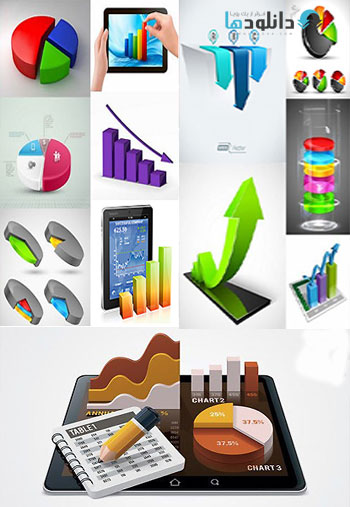 3D-Business-Graphs-Vector