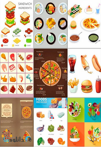 A-Collection-Of-Delicious-Food-Vector