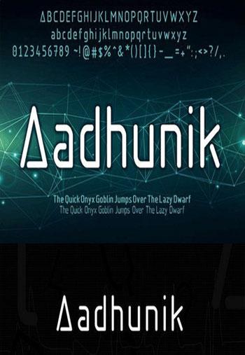 Aadhunik-Font