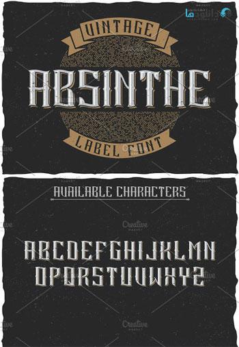Absinthe-Vintage-Label-Font