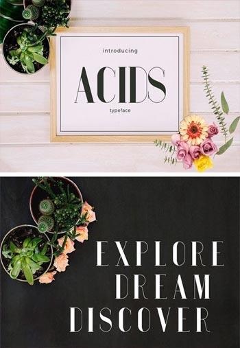 Acids-Typeface