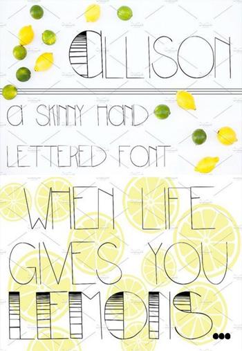 Allison-Sans-Serif-Font