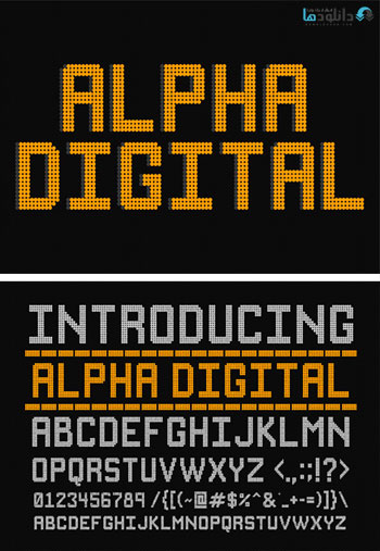 Alpha-Digital-Font