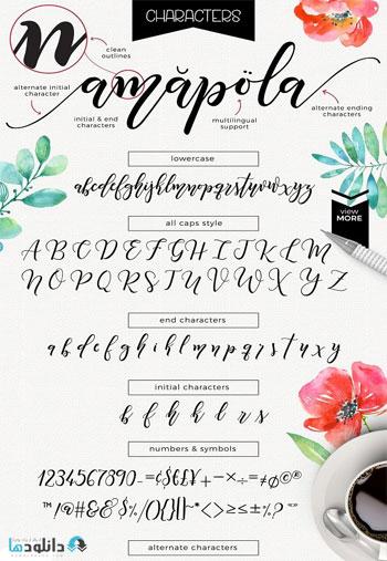 Amapola-script-font