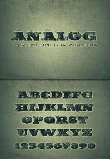 Analog-A-Grunge-Font