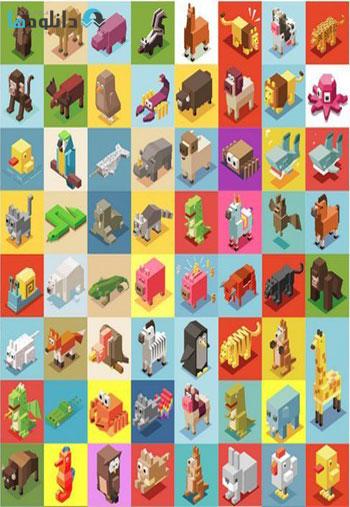 Animals-Isometric-collectio