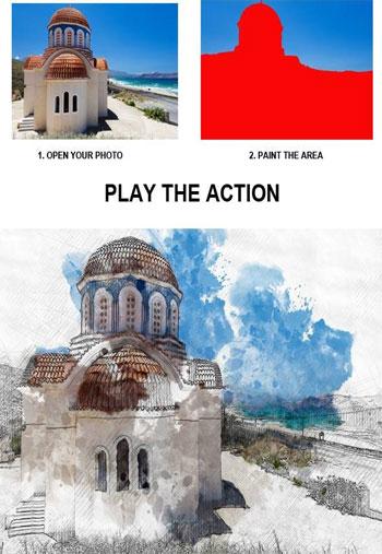 Architectural Sketch Photoshop Action