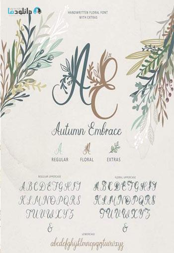 Autumn-Embrace-Floral-Font